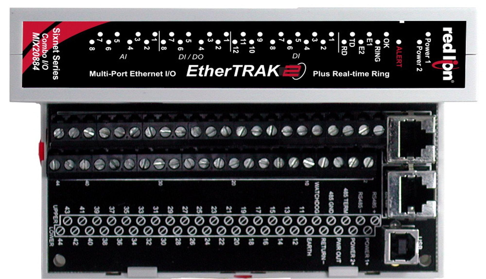 Allsidig I/O-modul med redundant, industrielt Ethernet og 40 signaler i en fin I/O-miks.