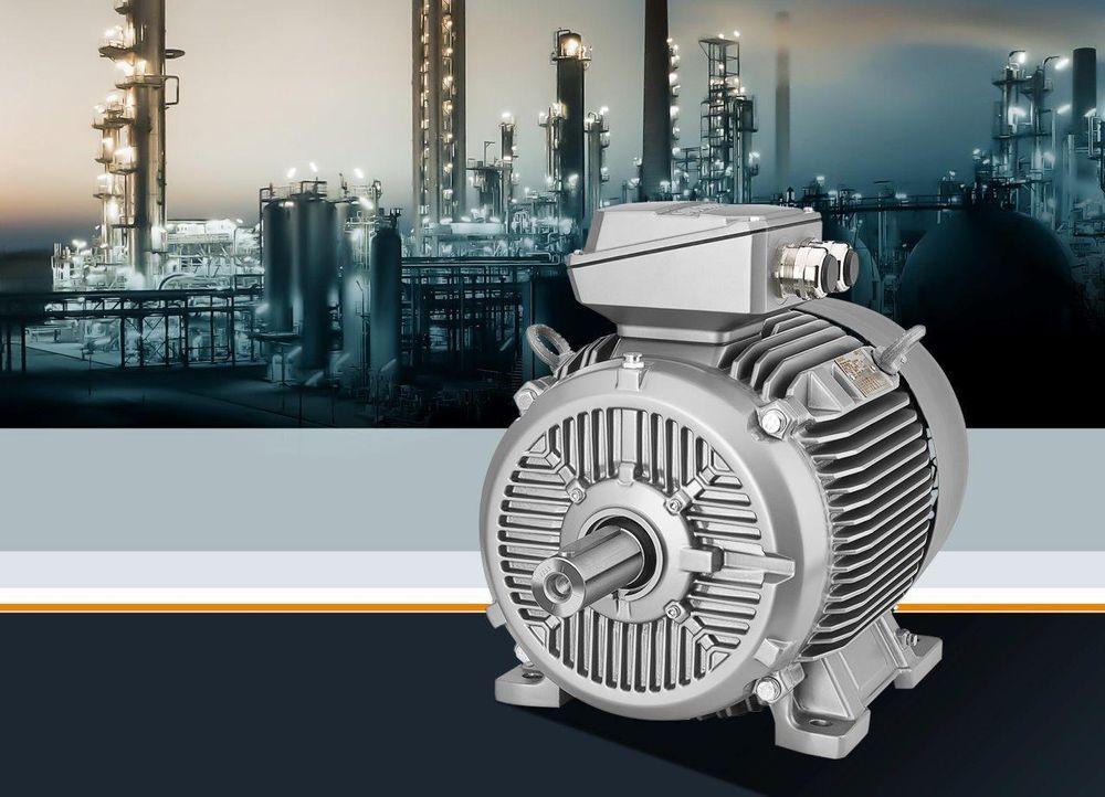 Støpejernsmotorer som er Ex-godkjente, i effektivitetsklassene IE2 og IE3.
