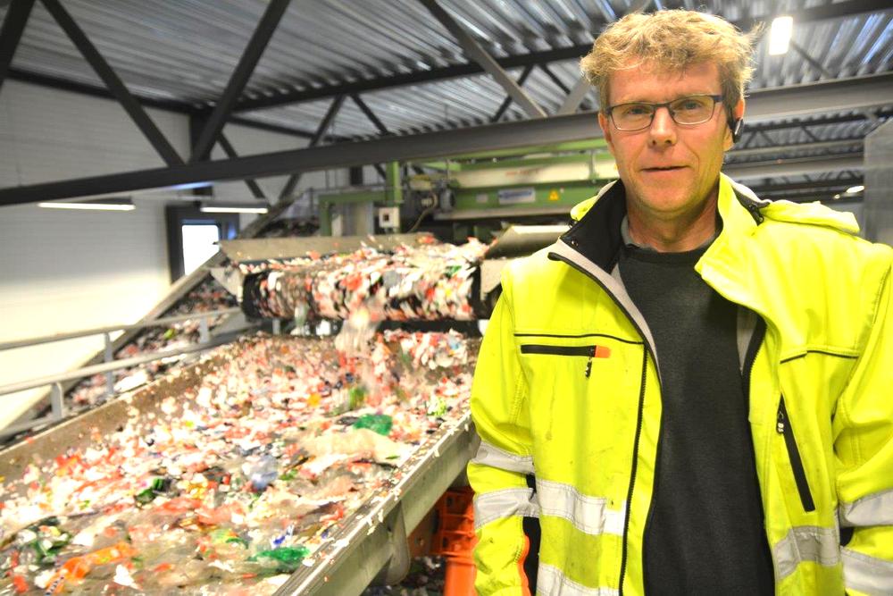 Driftsleder Ståle Maldum ved Norsk Resirk i Fet har vært en sentral person under oppbyggingen av sorteringsanlegget.