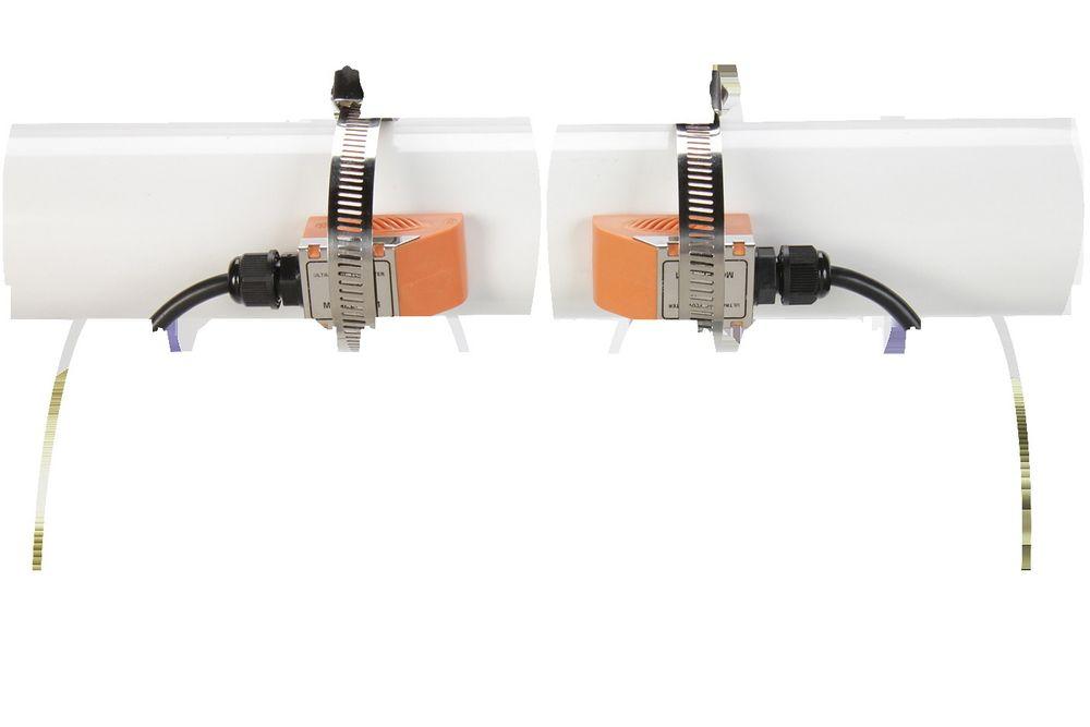 Ultralyd clamp-on-målere som gjør jobben på rør mellom 25 og 3000 millimeter.