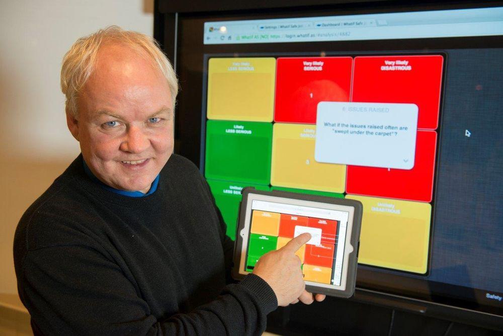 Daglig leder Kjetil Odin Johnsen i Whatif byr på webbasert risiko- og sårbarhetsanalyse (ROS), noe han kaller Consulting as Software (CAS).