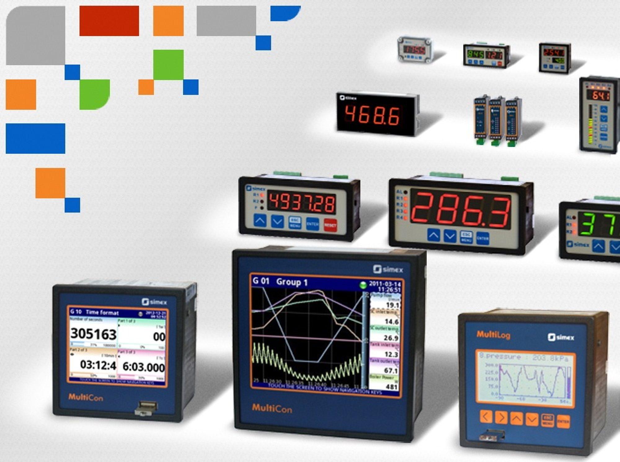 Eksempel på produkter fra Simex, som du nå kan få hos Leif Kølner Ingeniørfirma.