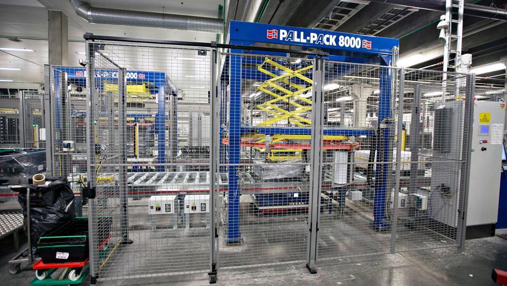 Pall-Pack 8000 på Norturas anlegg i Eidsberg i Østfold
