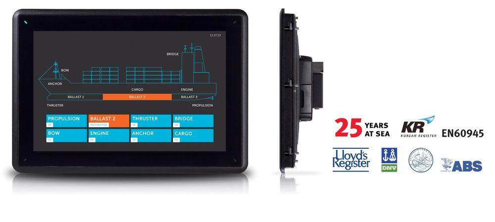 Beijer Electronics lanserer 15 tommer iX HMI maritimt panel.