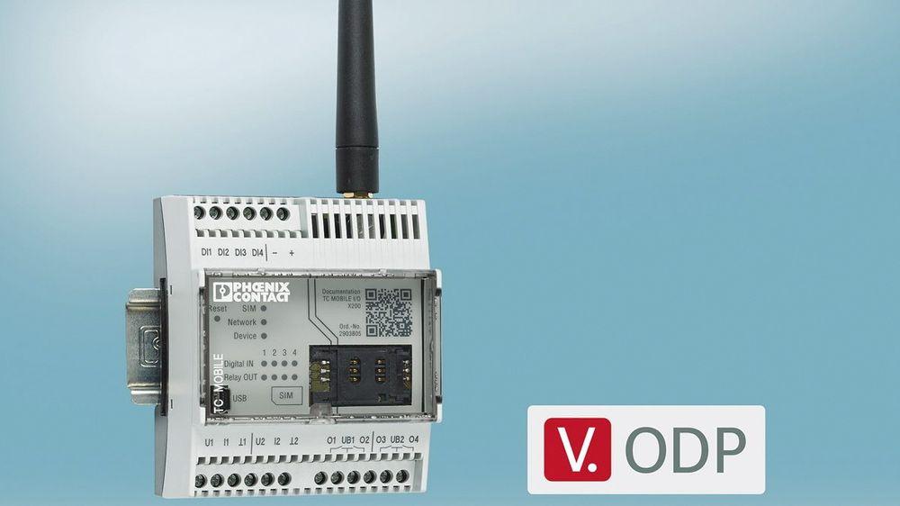 Den nye mobilradiomodulen TC Mobile I/O X300 fra Phoenix Contact.