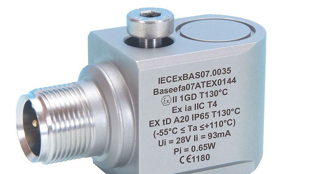 Vibrasjonssensor fra Hansford Sensor Ltd, representert i Norge av Scana Mar-El AS.