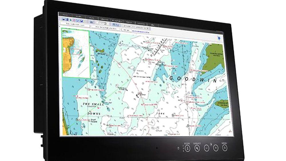 En marin skjerm etter ECDIS-standarden fra Elektronix Com-Scan