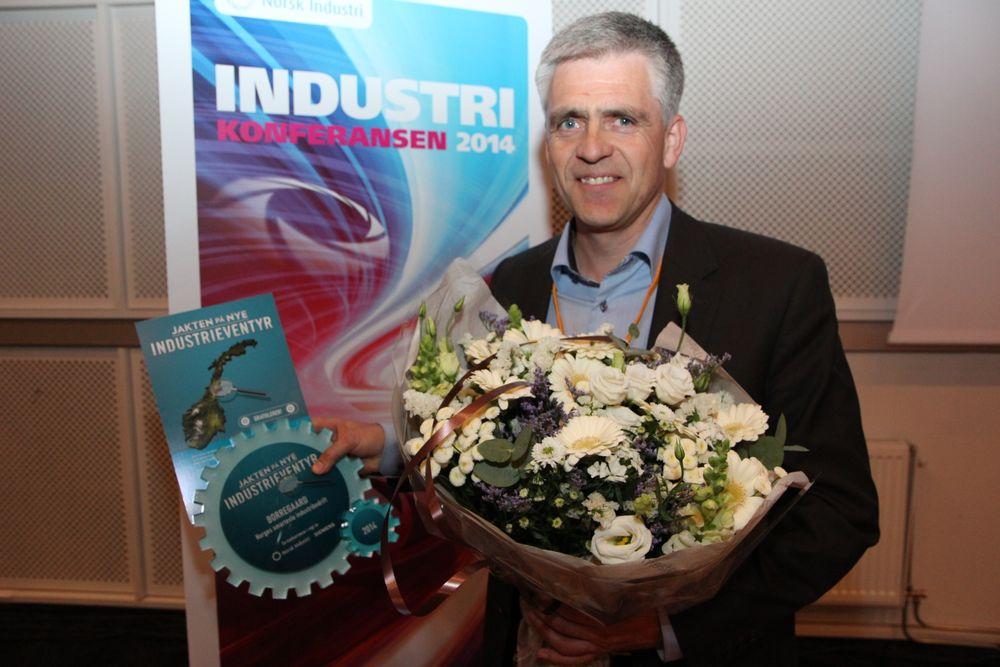 Dag Arthur Aasbø mottok prisen på vegne av Borregaard (Foto: Norsk Industri).
