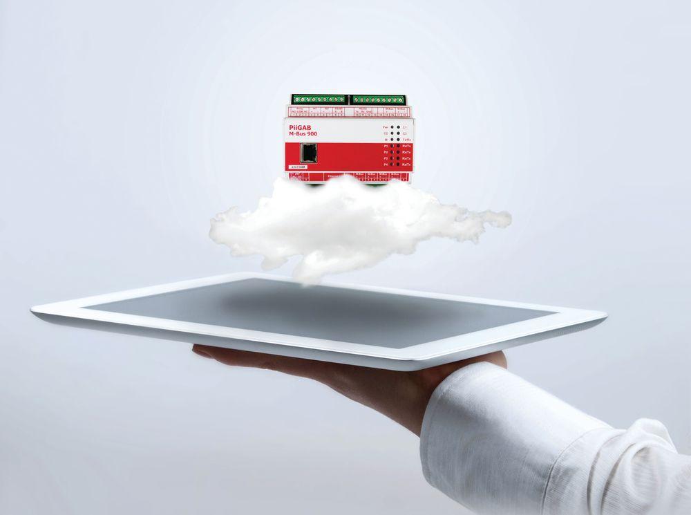 Sender energidata sikkert til nettbaserte tjenester.