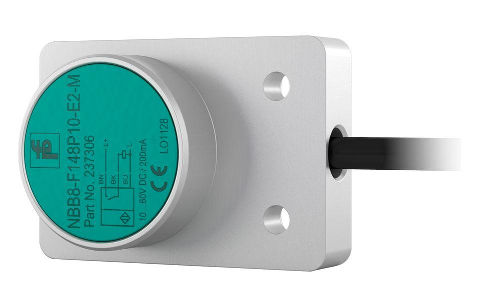 Induktive sensor som kun bygger 20 mm i høyden, med rekkevidde på 15 mm.