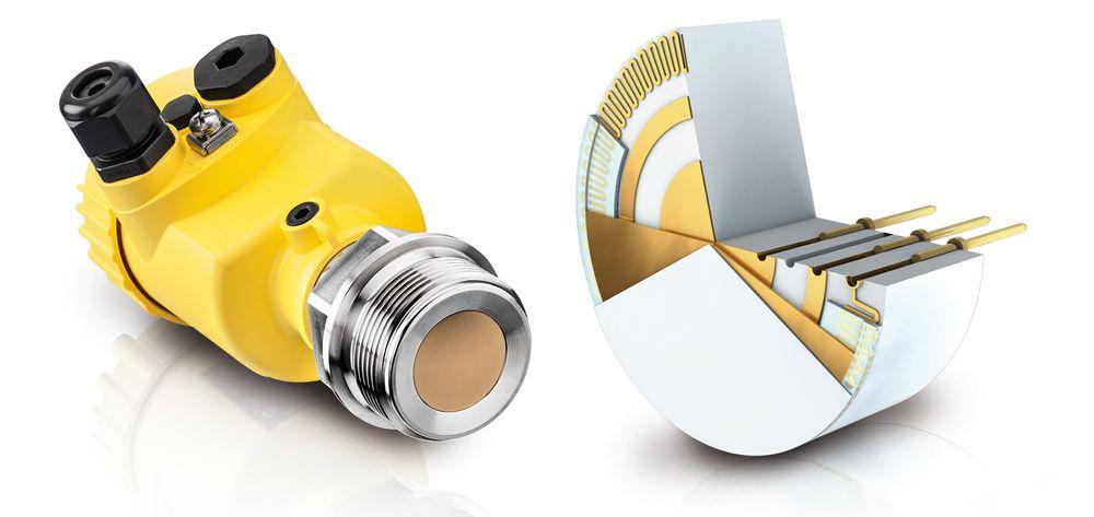 Trykksensor med keramisk målecelle, integrert temperatursensor, 200 gangers overbelastning, to mA-utganger og mulighet for elektronisk DP-måling.