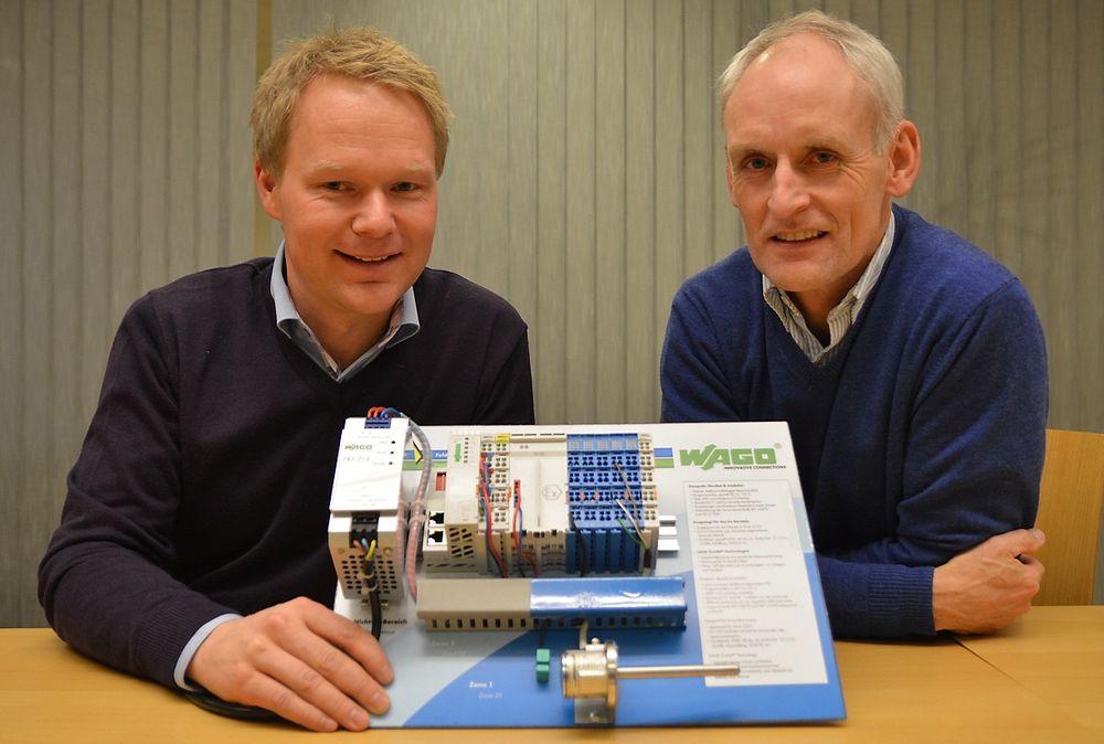 Stian Karlsen og Leif Midbøe er med å stake ut kursen for Wagos satsing innenfor prosessautomatisering.