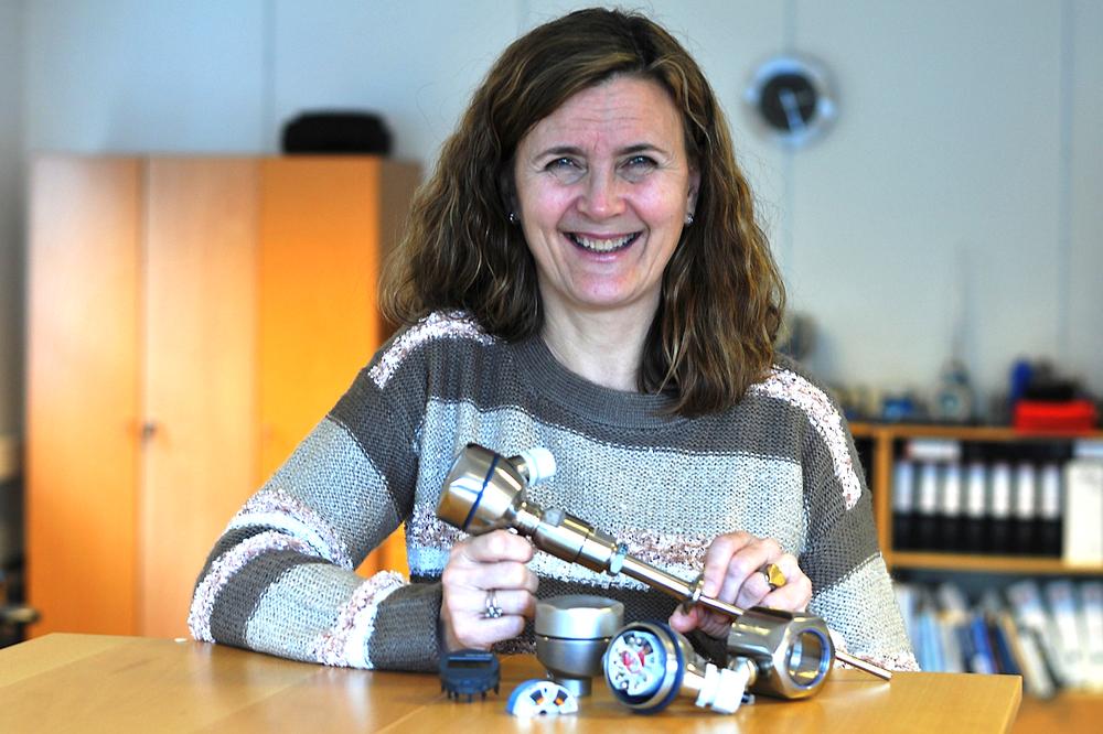 Rita Refvik hos Endress+Hauser byr på superrask temperaturmåling (arkivfoto).