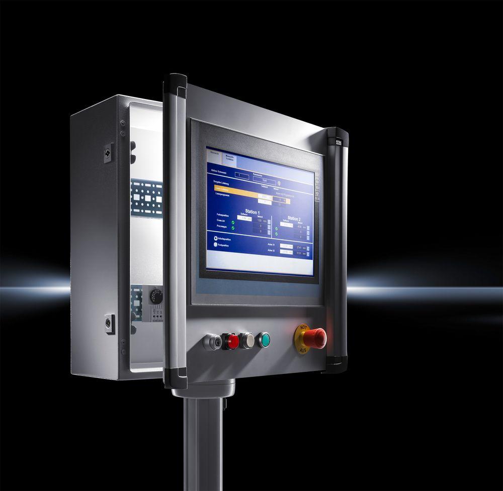 Nye kapslinger for operatørpanel som er tilpasset Rittal bærearmsystem.