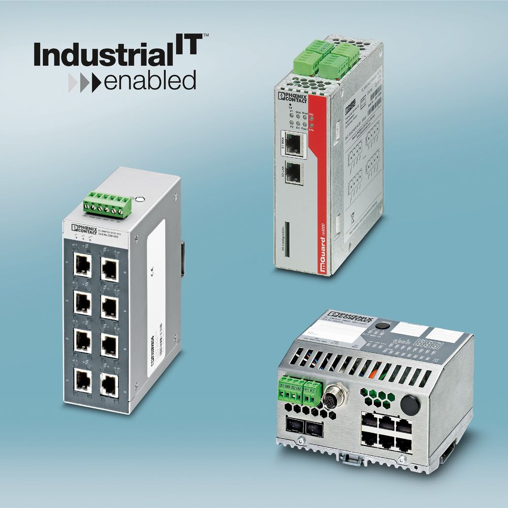 Flere av Phoenix Contacts Ethernet-komponenter er sertifisert av ABB som Industrial IT Enabled.