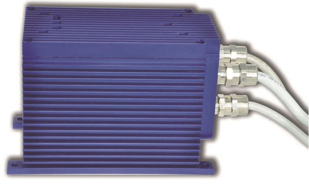 Strømforsyning for Atex sone 2, SIL2/3, driftstemperatur inntil 60 grader C og beskyttelsesgrad IP66.