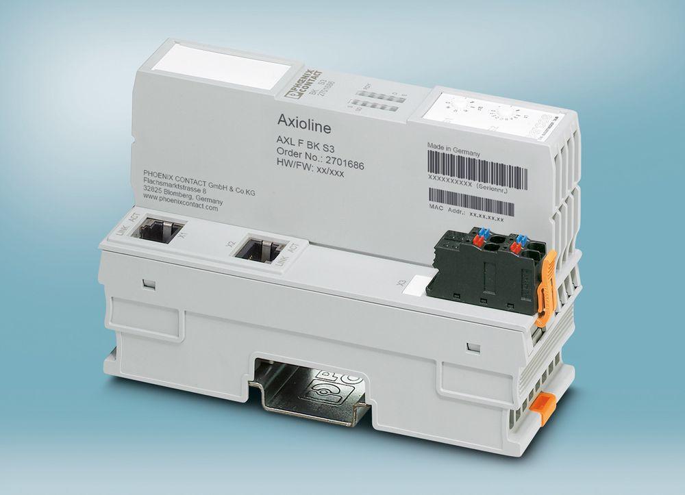 Sercos-modul som støtter Energy-profil og har adressering med dreikodebrytere.