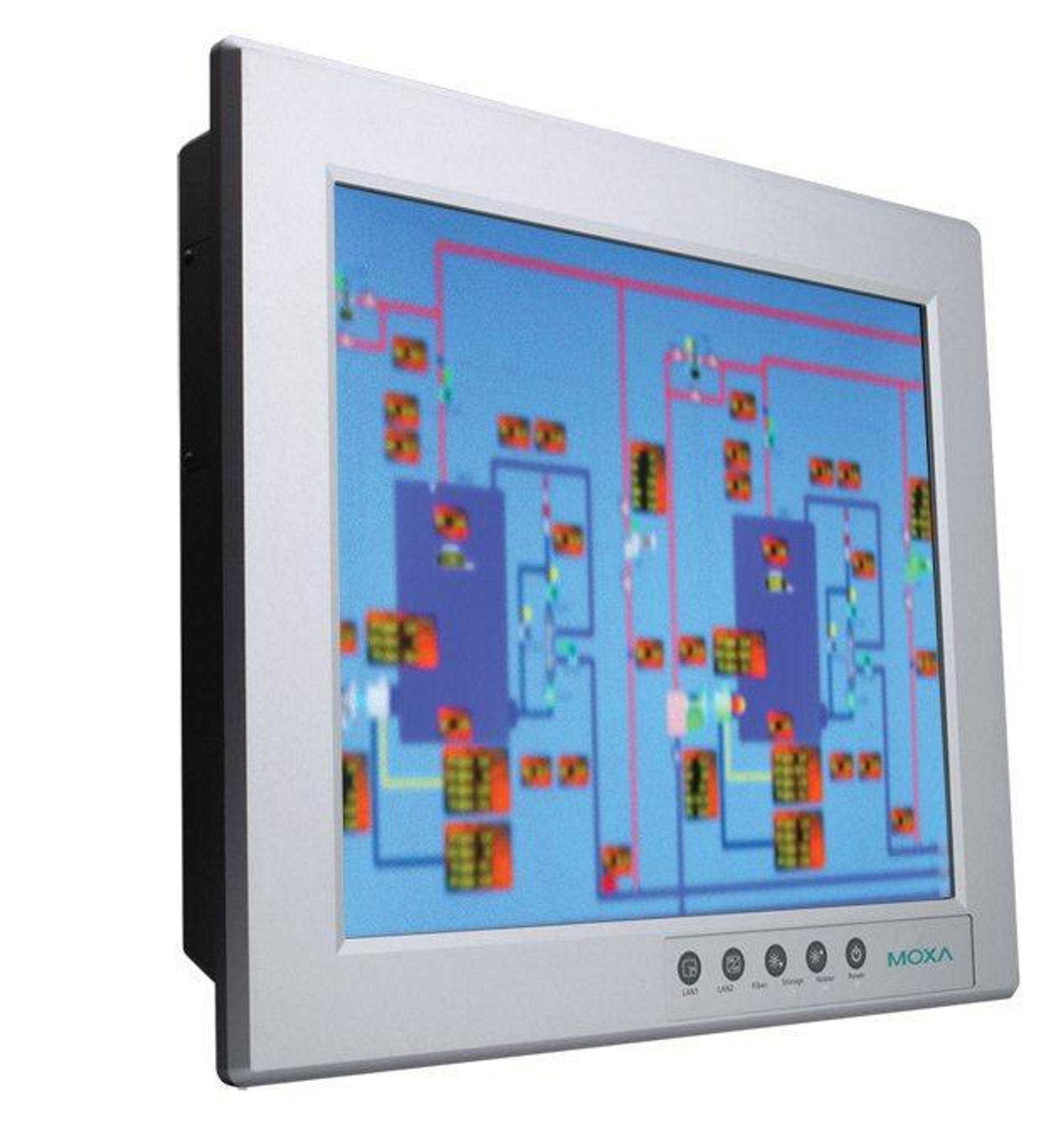 Vifteløs 19-tommers panel-PC for Atex sone 2 og beskyttelsesgrad IP66.