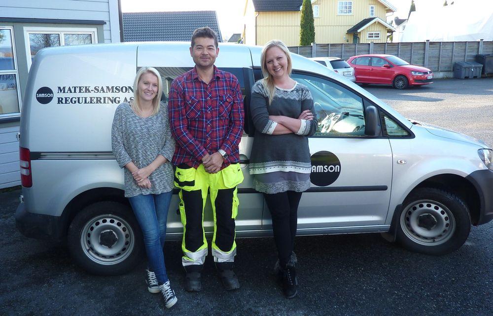 Tre nye hos Matek-Samson, fra venste Marion Smemo, Jonny Løvsjø og Mariann Mustvedt.