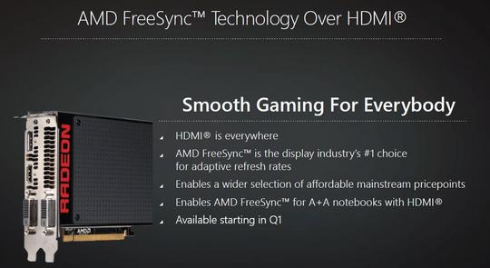 FreeSync vil fungere over HDMI, i alle fall på utvalgte enheter.