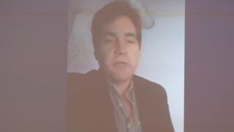 Dette er den angivelige Bitcoin-oppfinneren Craig Steven Wright. Bildet er hentet fra Bitcoin-konferansen tidligere i år, hvor Wright deltok via Skype.