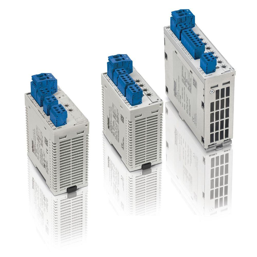 Elektroniske sikringer for 24 VDC som sørger for rask utkopling av kursen dersom strømforsyningen ikke har ekstra boost.