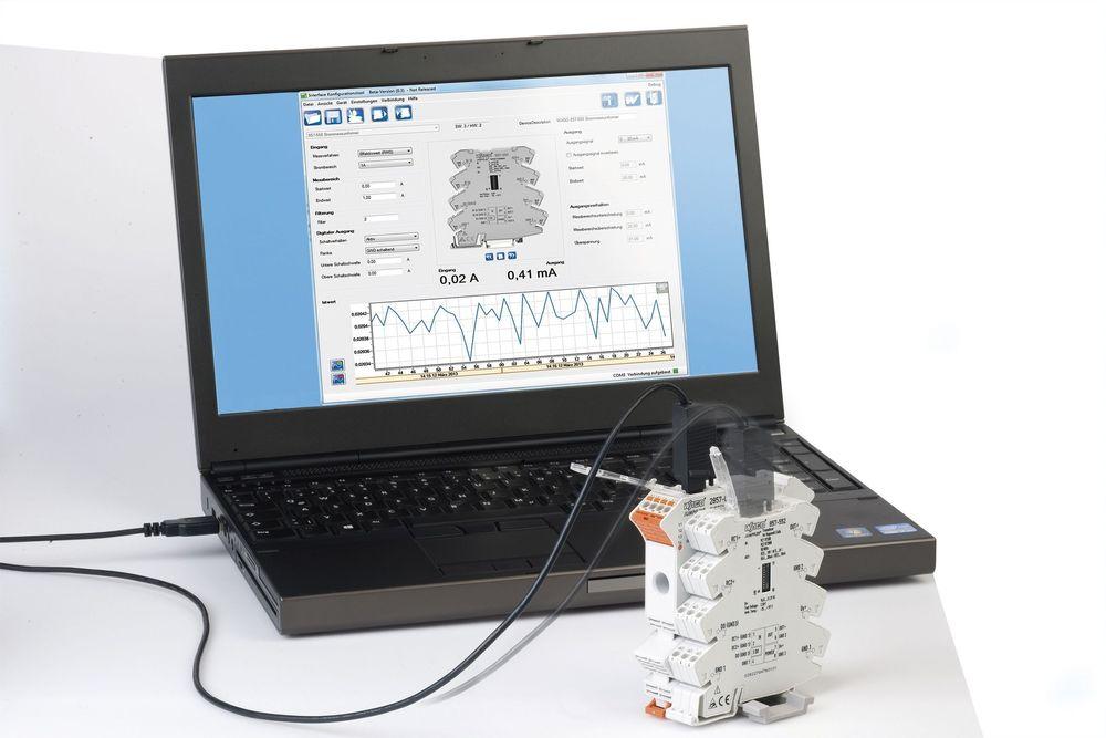 DIP-switchen er saga blott med konfigurasjon av måleverdiomformere fra PC-en.
