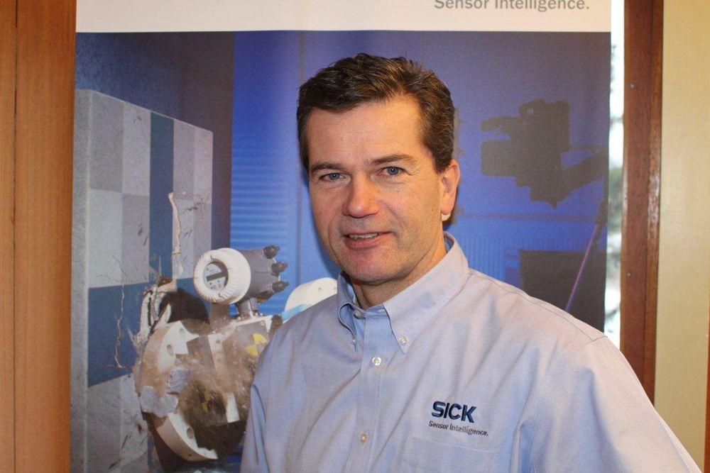 Bjørn Ulleberg er salgssjef og leder for Sick i Norge.