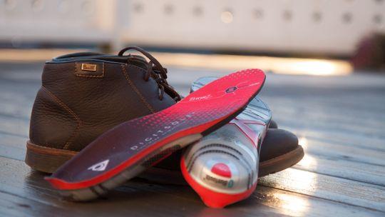 Digitsole er ganske høye bak, og passer best i litt høye støvler.