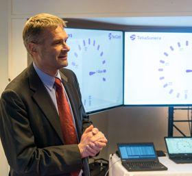 NetCom-sjef Abraham Foss var naturligvis til stede.