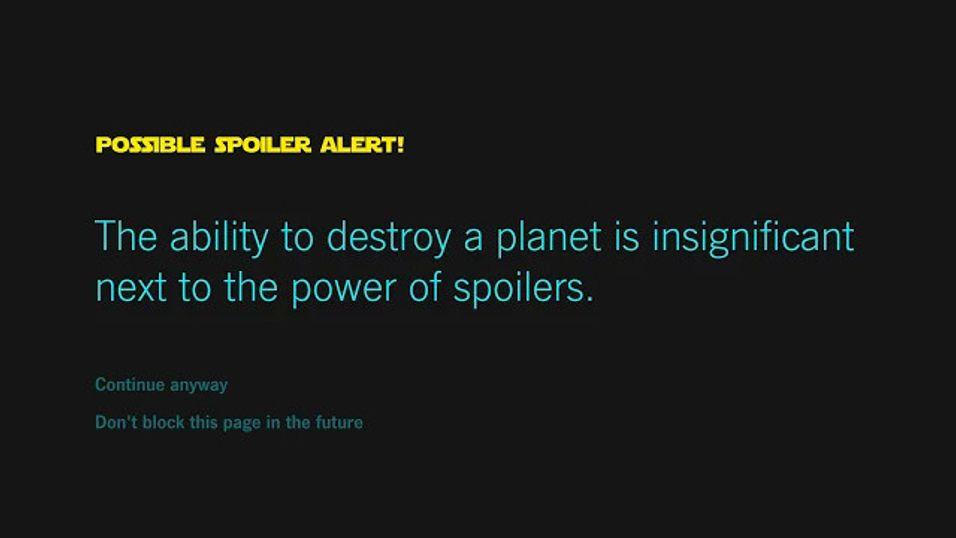 Unngå Star Wars-spoilere med dette Chrome-tillegget