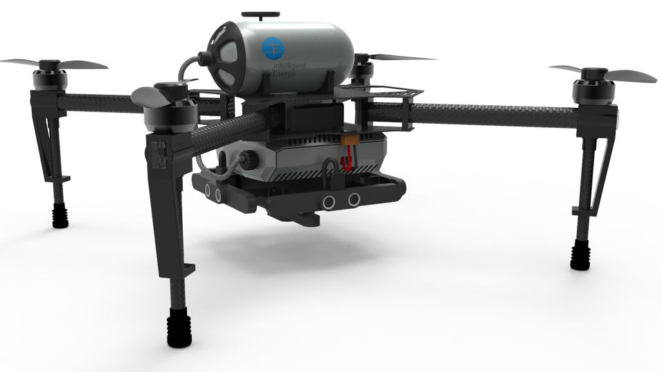 Dette er protypen på den nye hydrogendronen.