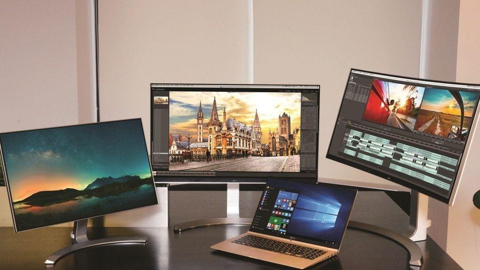 Noen av de nye produktene som LG har avduket i forkant av CES-messen.
