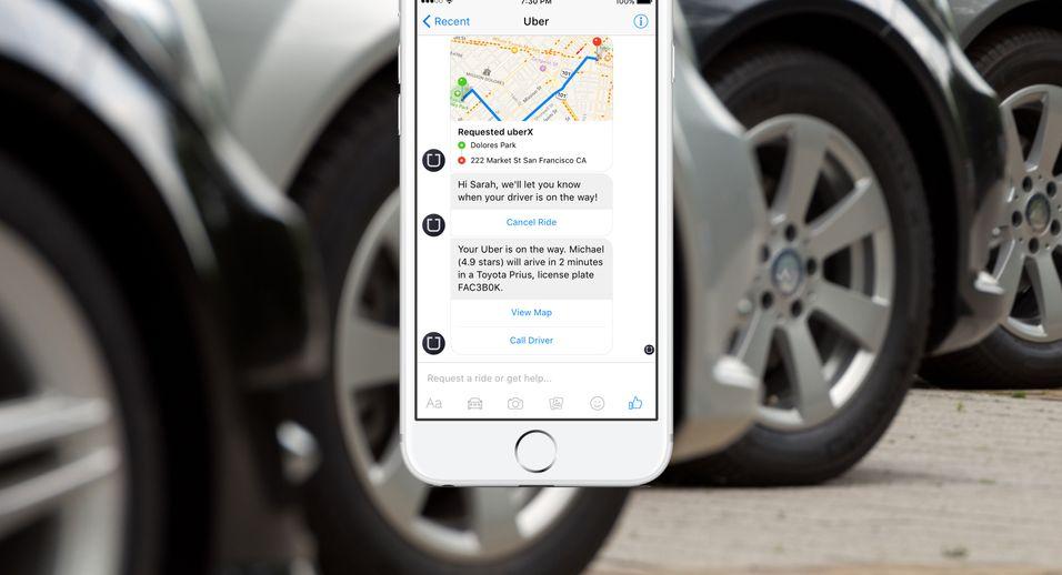 Facebook putter stadig mer funksjonalitet inn i lynmeldingsappen Messenger. Sist ut er Uber.