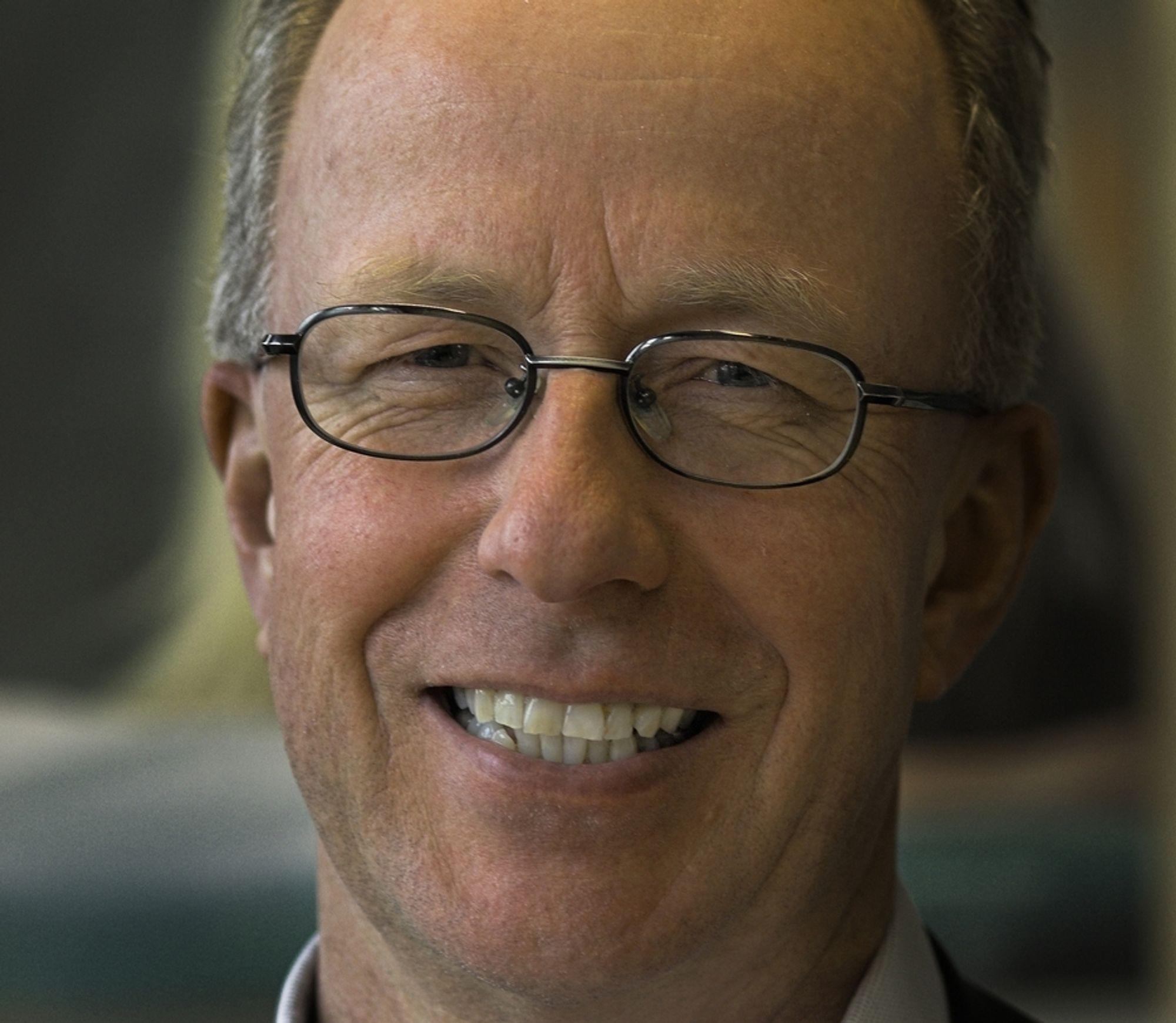 RYDDEGUTT: Jan Eigil Rydningens første store oppgave blir å bygge opp omdømmet til Fujitsu Siemens Computers norske virksomhet. Selskapet har fått seg en knekk etter at de var innblandet i korrupsjonssaken med Forsvaret.