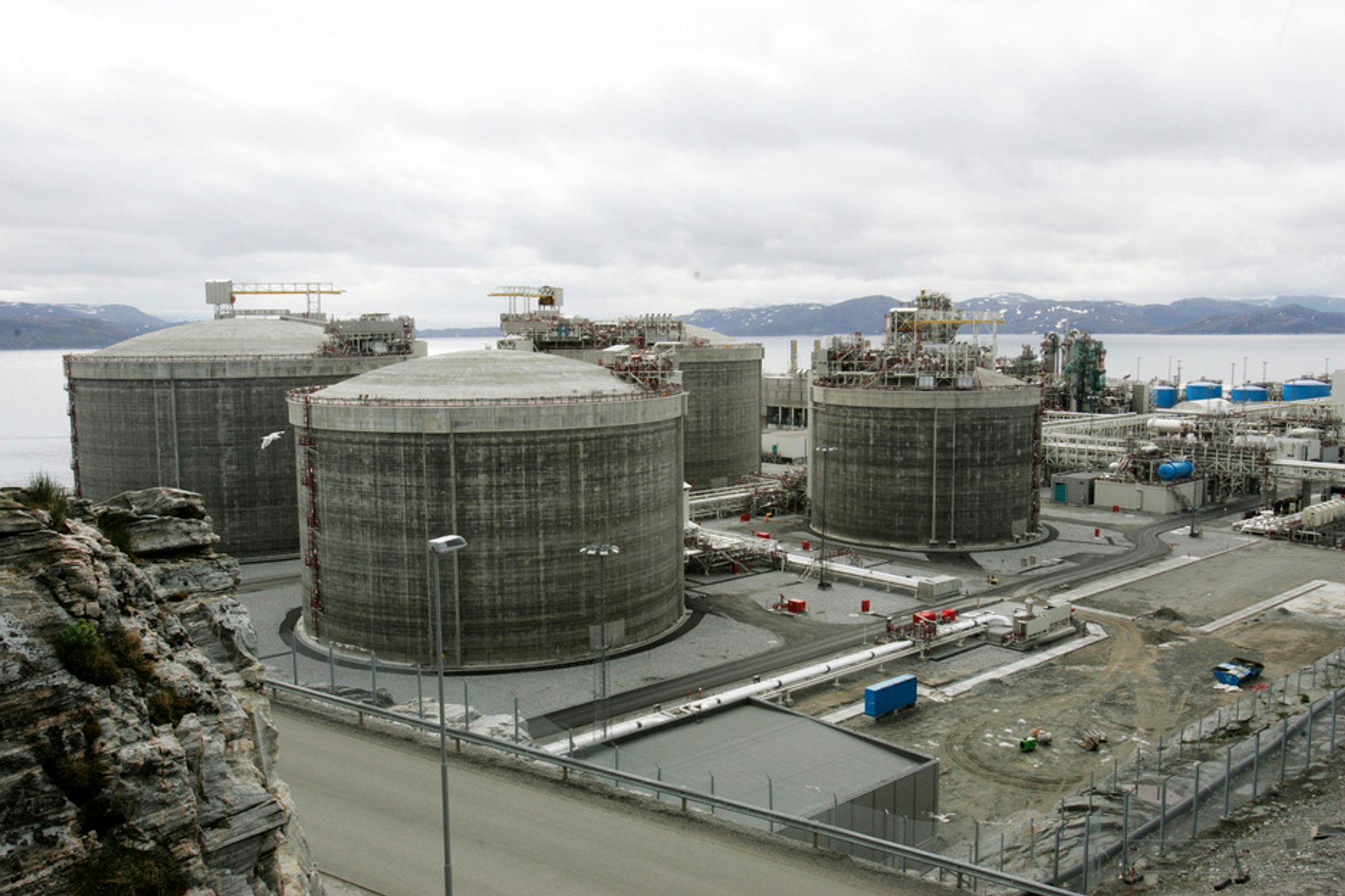 HAMMERFEST: Statoils anlegg på Melkøya for mottak av gass fra Snøhvit-feltet.