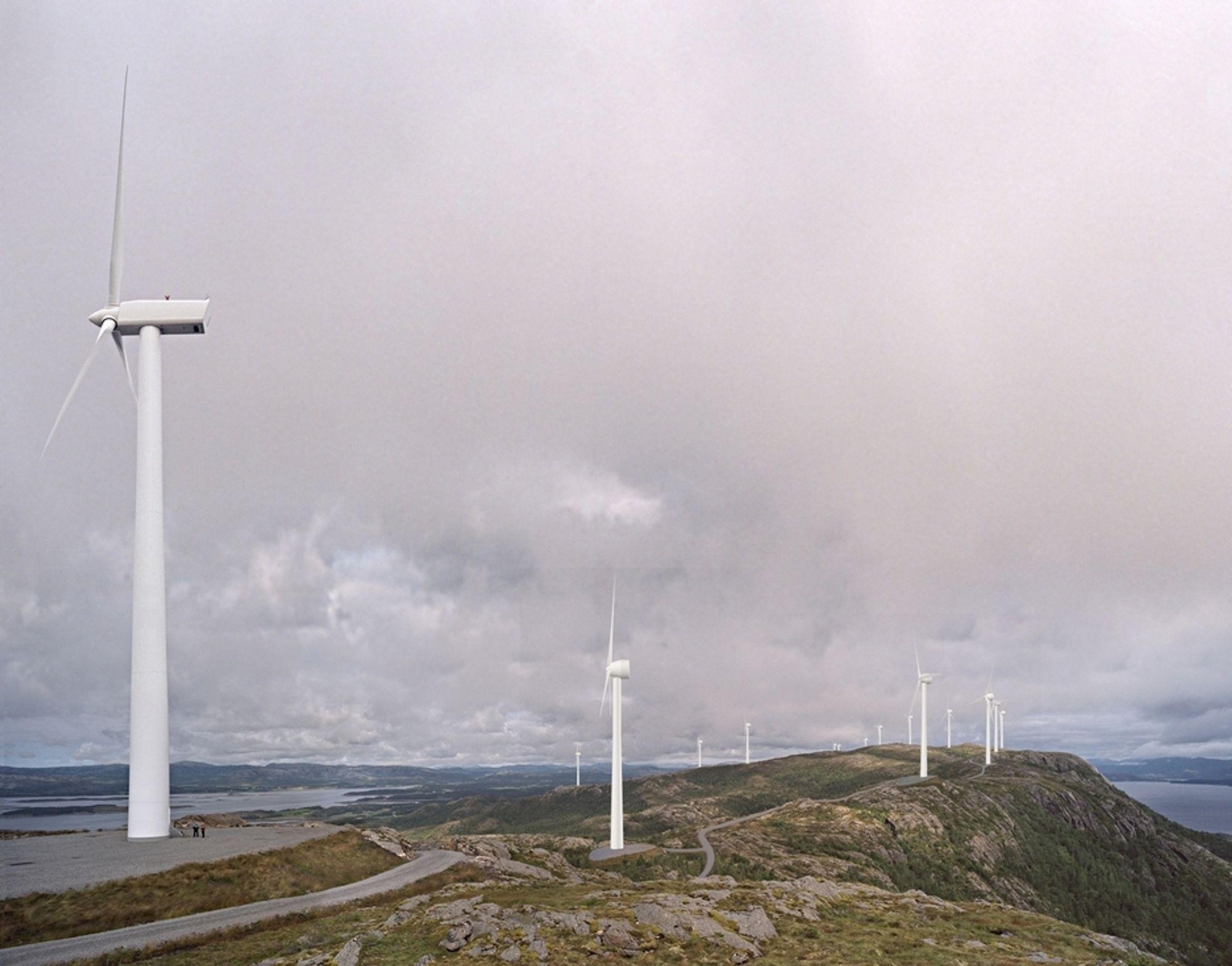 På Hundhammerfjellet står det allerde flere vindturbiner. Nå kan kraftverket få nye naboer i Ytre Vikna.