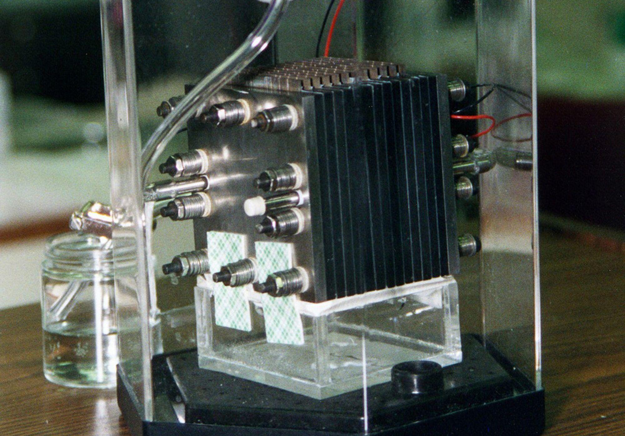 Brenselcelle med metanol som drivstoff. (Illustrasjonsfoto)