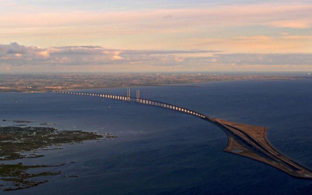 KRAFTBYGG: Kraftverket skal bygges på den kunstige øya Peberholm, til høyre i bildet.