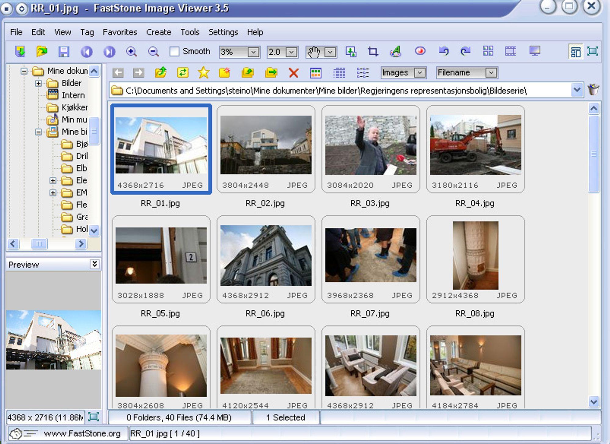 Ukens gratisprogram: Faststone Image Viewer