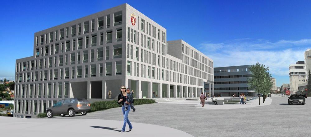 STATLIG: Brandsberg-Dahls Arkitekter har tegnet Statens hus, som skal bidra til fortsatt byggevirksomhet i Stavanger.