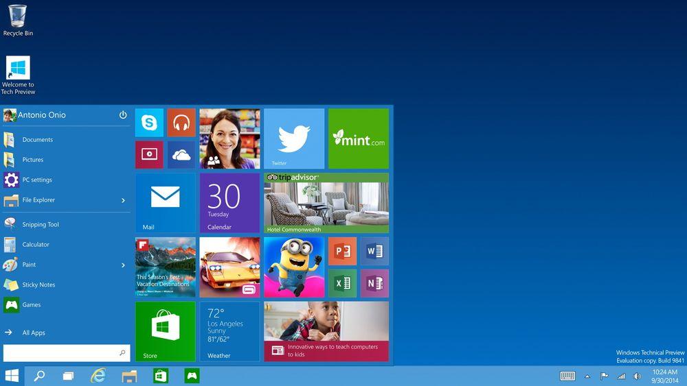 Windows 10 på mobil vil kunne brukes med et desktopliknende grensesnitt om du kobler til en skjerm med HDMI.
