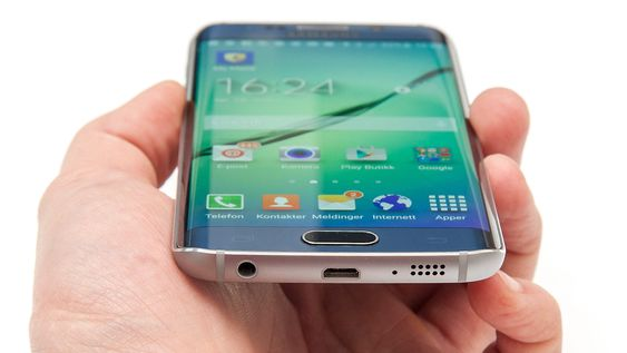 Samsung Galaxy S6 Edge er laget i glass og metall.
