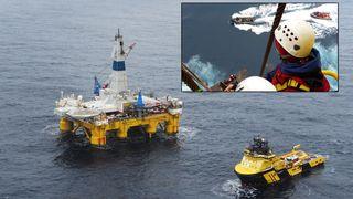 Aktivister bordet Polar Pioneer i protest mot Shell-planer