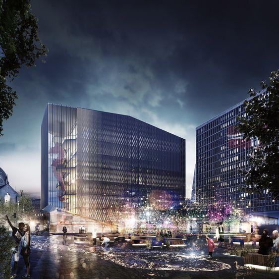 White arkitekters forslag til nytt regjeringskvartal.