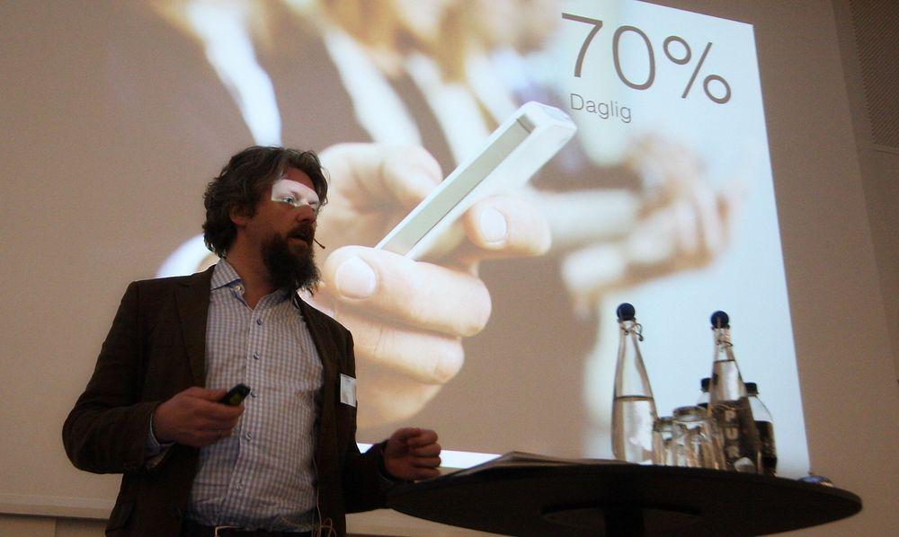Geir Bækholt hos Crypho og 10 andre teknoselskaper meldte fra om sine utfordringer til næringsministeren under NEO 2015.