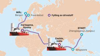 Kvitbjørn fylte drivstoff bare to ganger fra Kina til Norge
