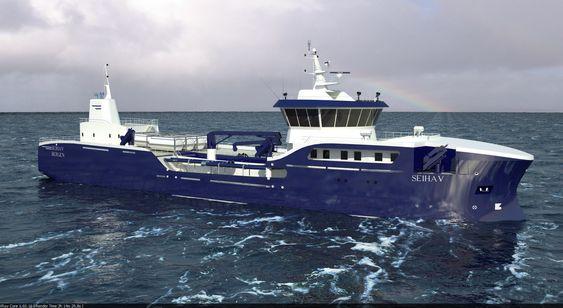 MV Seihav - brønnbåt for utleie til Lerøy Seafood. Skipet får et framdriftssystem på 3 MW med tre dieselgeneratorer og elektrisk system fra Stadt.