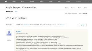 Problemet har skapt den lengste tråden på Apples support-forum