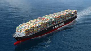 Samsung setter ny rekord for containerskip - igjen